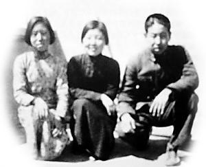 王氏三兄妹:王德芬、王德谦、王德彰(左起)